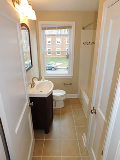 Bathroom in a St. Ambrose home