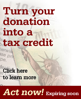 Turn your donation into a tax credit